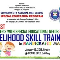 OCNHS SPED LSENs Livelihood Skill Training - Handicrafts Making