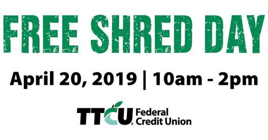 Free Shred Day at TTCU Claremore Branch, Claremore
