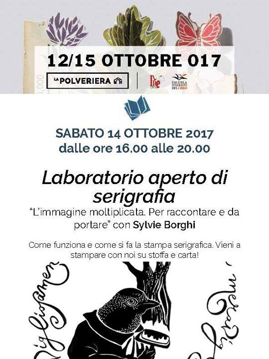 Laboratorio aperto di serigrafia con Sylvie Borghi