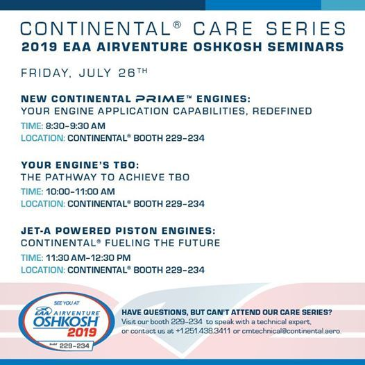 New Continental Prime™ Engines at EAA - The Spirit of Aviation, Oshkosh