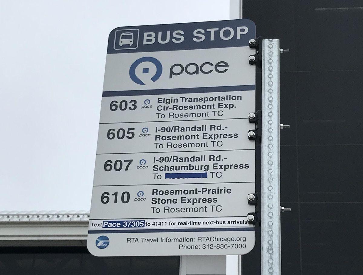 Pace Bus Crawl at Rosemont CTA Station, Rosemont