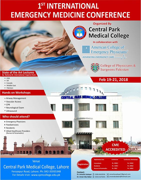 1st International Emergency Medicine Conference at Central