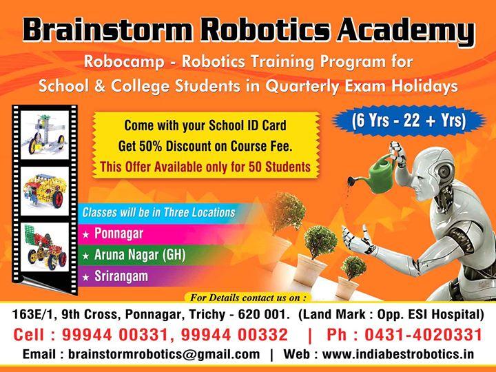 Robocamp Robotics Crash Course For Kids And School Students At