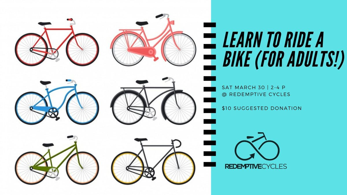 Learn to Ride A Bike (for Adults)