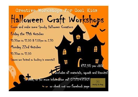 Halloween Craft Workshop For Cool Kids At Molly Peg Luton