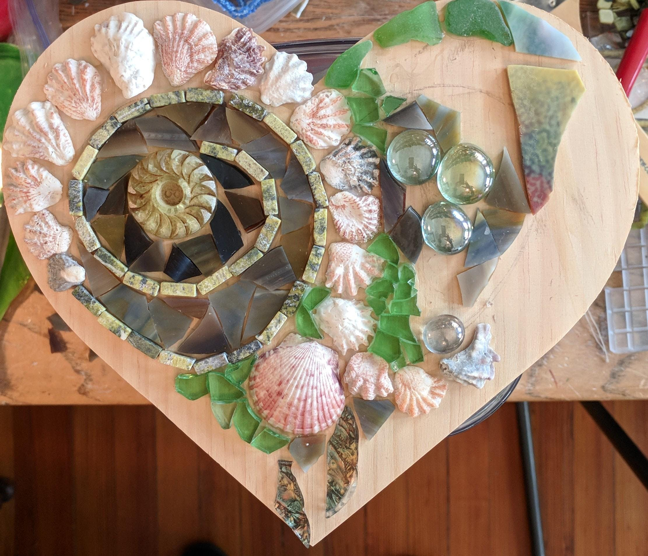 Learn to Make a Beachy Mosaic Heart or Frame at Long Beach Island ...