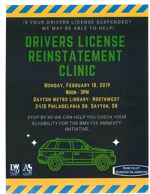 Drivers License Reinstatement Clinic at Northwest Branch