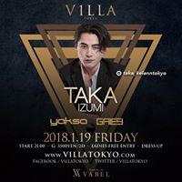 TAKA IZUMI DJ at VILLA TOKYO
