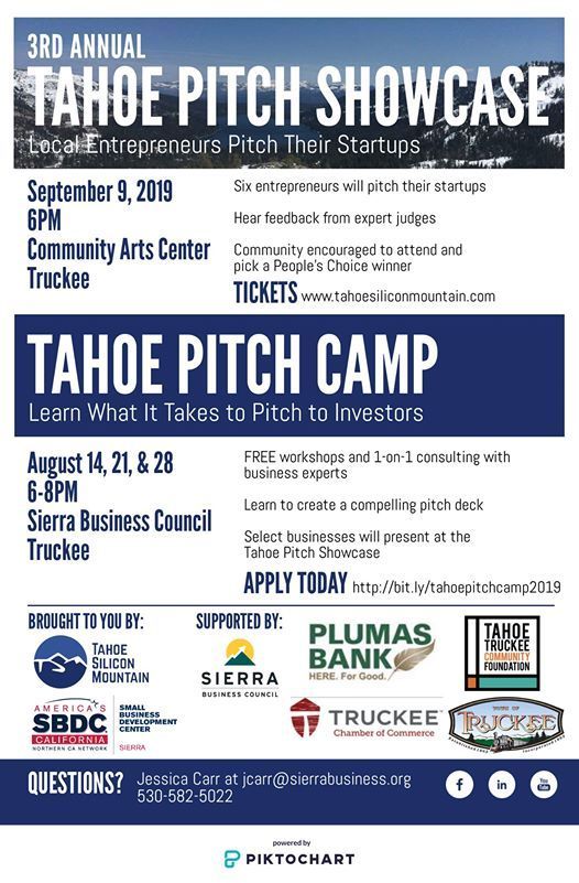 Tahoe Pitch Camp 2019 at Sierra Small Business Development