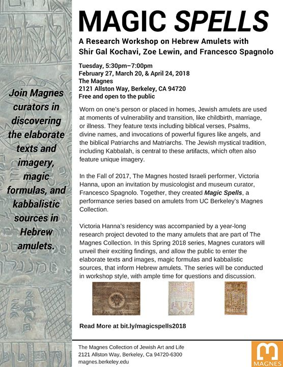 Magic Spells: A Research Workshop on Hebrew Amulets at The Magnes