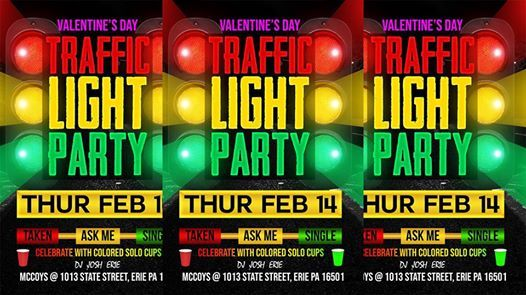 Valentines Day Traffic Light Party at McCoy's Barrelhouse and