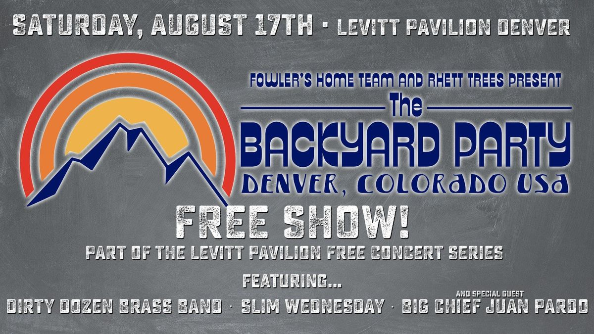 Backyard Party with Dirty Dozen Brass Band and Slim Wednesday