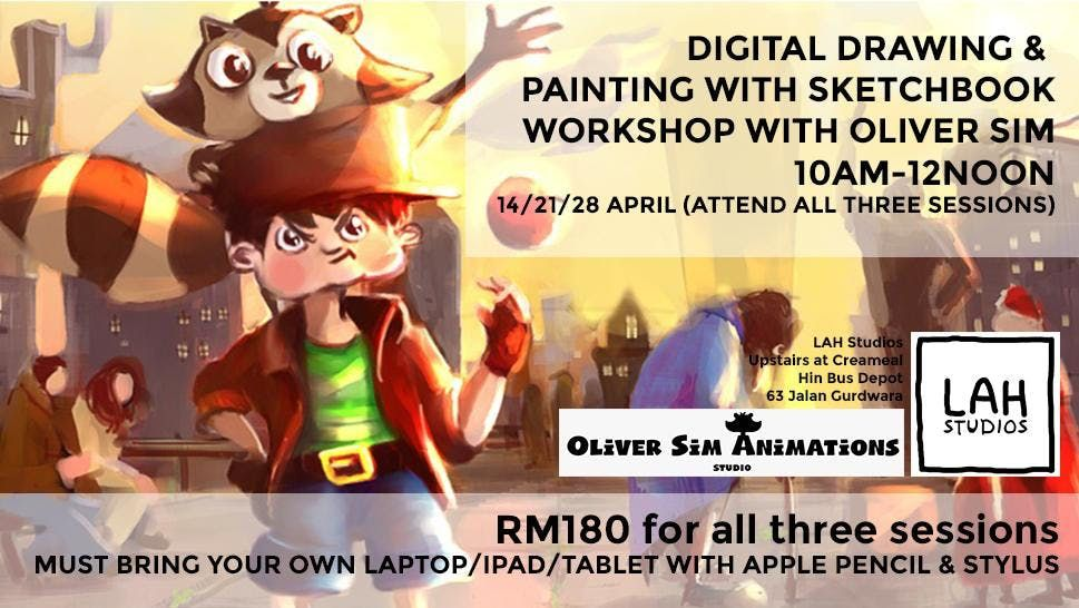 Digital Drawing & Painting with Sketchbook App with Oliver