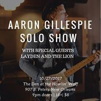 In The Den Aaron Gillespie Solo plus Layden and the Lion