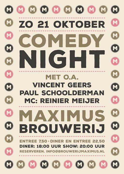 Brouwerij Maximus Comedy Night (UITVERKOCHT)