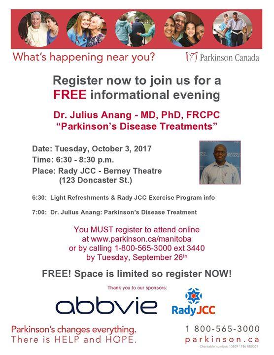 Dr. Julius Anang Presents Parkinsons Disease Treatments