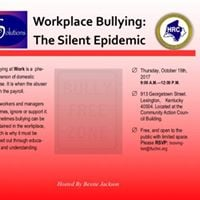 Workplace Bullying The Silent Epidemic (Free Workshop)