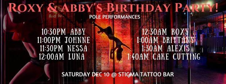 roxy and abbys birthday bizarre at stigma tattoo bar orlando