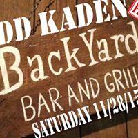 Todd Kaden LiveThe Backyard FREE