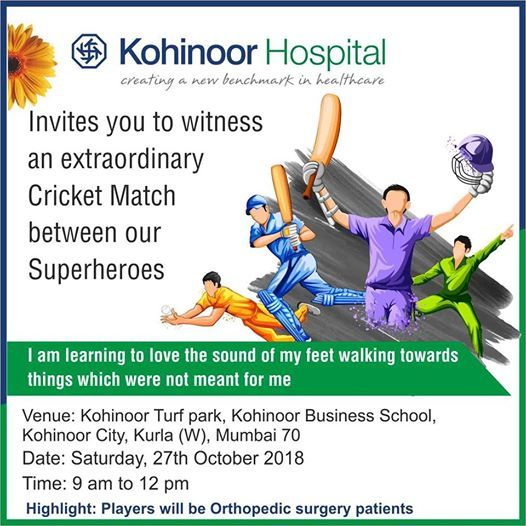 Watch Our Superheroes Play Cricket at Kohinoor Hospital, Mumbai