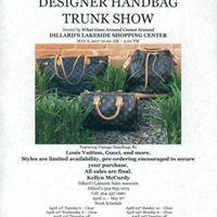 Vintage Designer Handbag Trunk Show May 6th 2017 10AM - 2PM