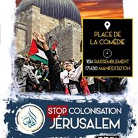 Manifestation contre la journe coloniale dite de Jerusalem