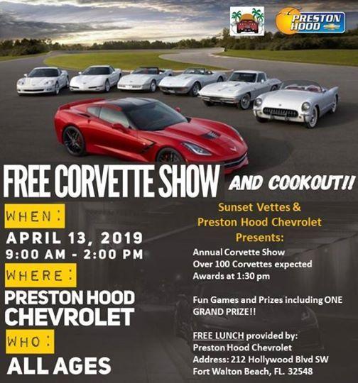 Preston Hood Chevrolet >> Annual Corvette Show At Preston Hood Chevrolet Florida