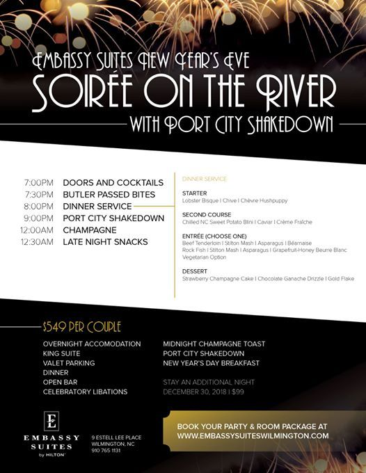 Embassy Suites New Years Eve Soire On The River
