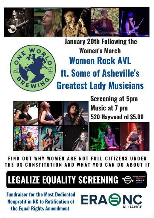 Women Rock AVL Benefit for ERA - NC ft. some of AVLs Best