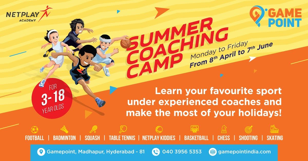 Summer Camp Hyderabad - Sports Coaching for Kids