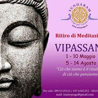 Vipassana - ritiro di Meditazione