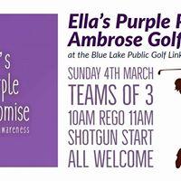 Ellas Purple Promise Ambrose Golf Day