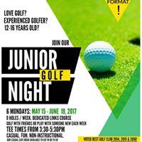 Junior Golf Night at Sunnybrae Golf Club starts