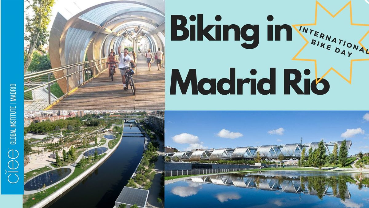 Biking in Madrid Rio