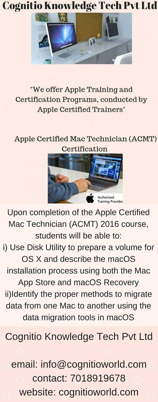 Apple Certified Mac Technician Acmt Certification At Cognitio