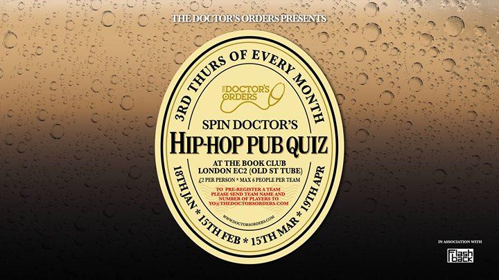 Spin Doctors Hip-Hop Pub Quiz