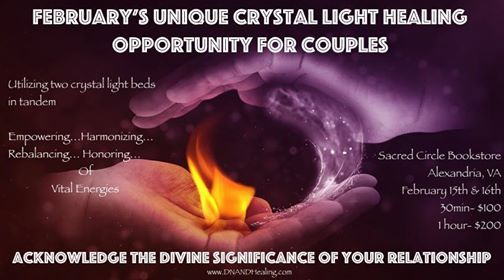 Crystal Healing Light sessions for Couples at Sacred Circle919 King