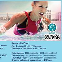 Aqua Zumba at the Kemptville Pool
