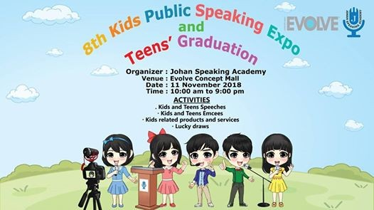 8th Kids Public Speaking Expo and Teens Graduation on 11 Nov 18