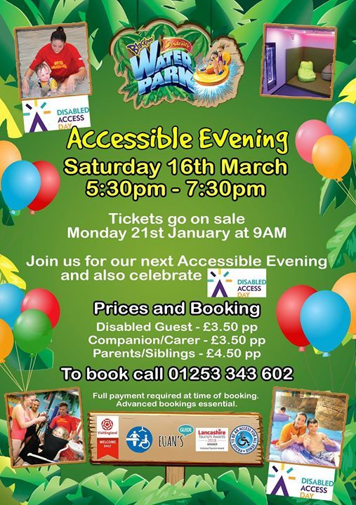 Family Accessible Evening at Sandcastle Waterpark