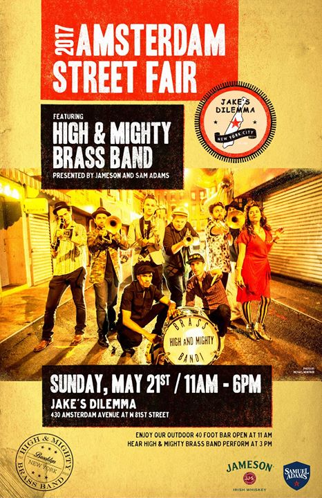 Amsterdam Street Fair With High Mighty Brass Band At Jakes
