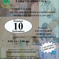 Curso-Taller El Tecnlogo Mdico Empresario - Modelo de Negocio