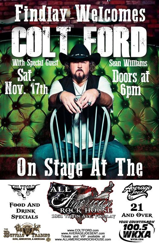 Astounding Colt Ford With Special Guest Sean Williams At All American Download Free Architecture Designs Rallybritishbridgeorg