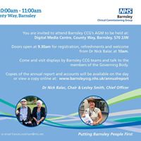 NHS Barnsley CCG Annual General Meeting Event