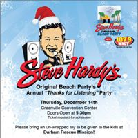 Steve Hardys Original Beach Party Thanks for Listening Christmas Party