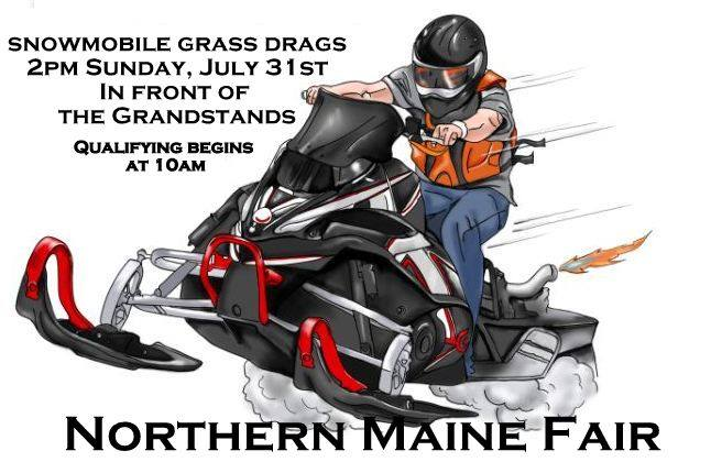 Snowmobile Grass Drags at the Northern Maine Fair | Presque Isle