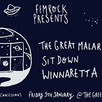 FemRock Presents... The Great Malarkey  Sit Down  Winnaretta - 5118
