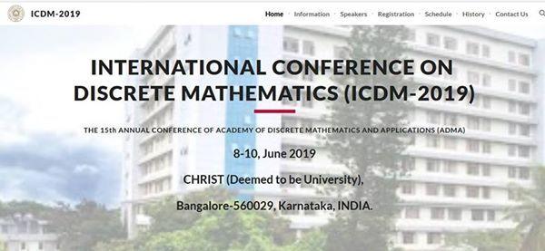 International Conference on Discrete Mathematics (ICDM-2019)