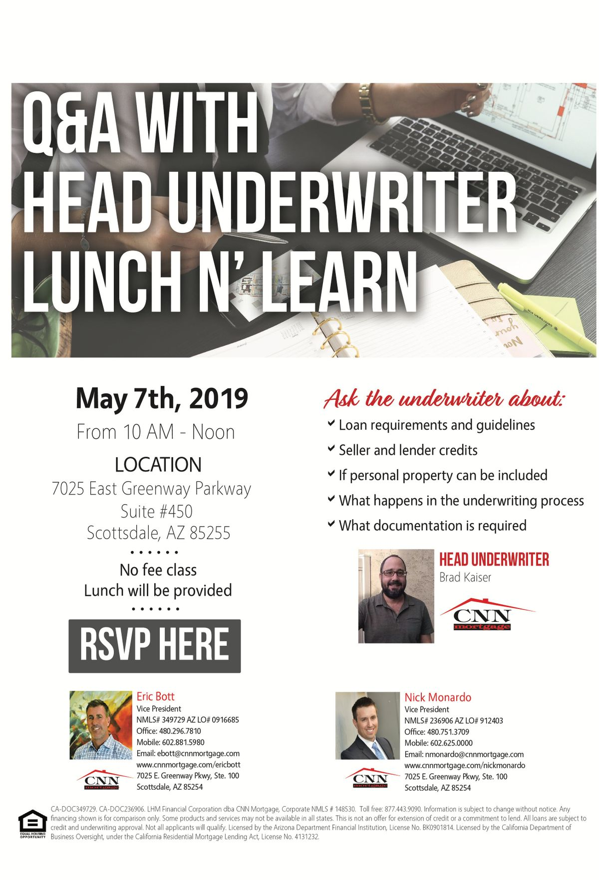 CNN Lunch and Learn w/ Underwriter Brad Kaiser May 9th at CNN