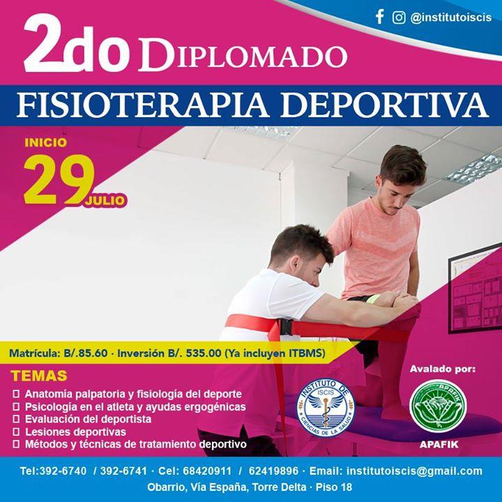 2do Diplomado en fisioterapia deportiva at Instituto ISCIS, Panama City